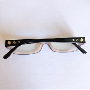 Authentic Chanel Pink and Black Charm Eyeglasses